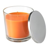 sinnlig-scented-candle-in-glass-orange-ikea-review